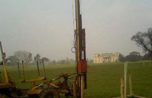 Tree guard construction at Croome Park for National Trust